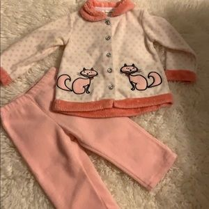 Pink/coral And White Girls Winter Set